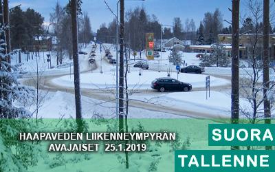 Haapaveden Kiertoliittymän avajaiset 25.1.